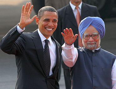 US President Barack Obama with Prime Minister Dr Manmohan Singh