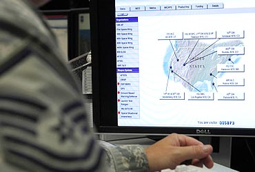 The US Air Force Space Command Network Operations Security Centre in Colorado