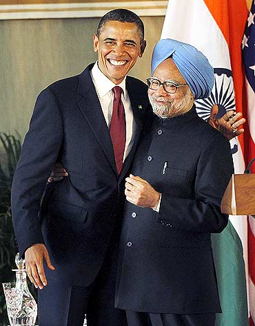President Obama and Prime Minister Manmohan Singh