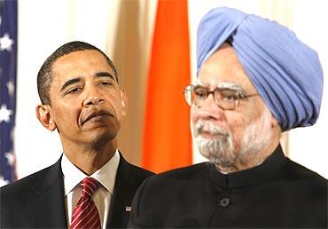 US President Barack Obama with Prime Minister Manmohan Singh