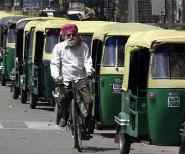 Over 10,000 autos go off Delhi roads