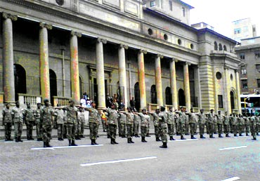 Guard of Honour during the ceremony