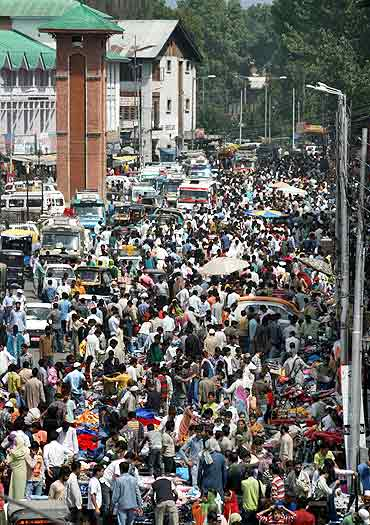Heavy rush was witnessed in Srinagar markets ahead of Eid festivities