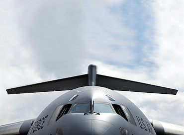 A US Air Force C-17 aircraft