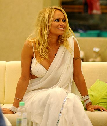 First Pix: Pamela at the Bigg Boss Home