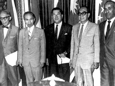ASEAN was formed in Bangkok on August 1967 at a gathering of the foreign ministers of the Philippines, Indonesia, Thailand, Malaysia and Singapore