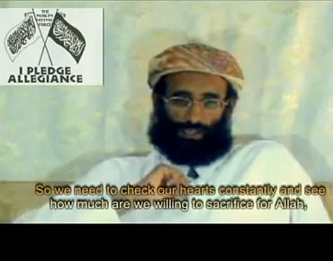 Video grab of Awlaki's speech from the Internet