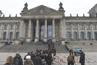 The historic Reichstag building in Berlin.