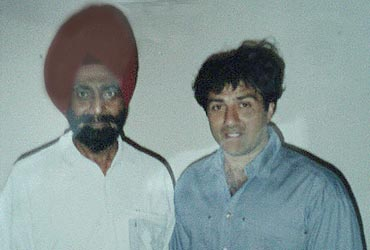 Brigadier Chandpuri with actor Sunny Deol who portrayed his character in the film 'Border'