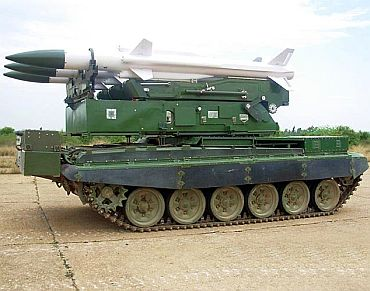 The Akash missile launcher
