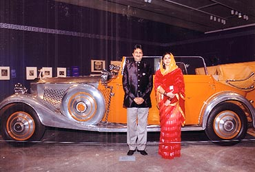 Mandhatasinhji Jadeja and his wife Kadambaridevi Jadeja at the Toronto gallery