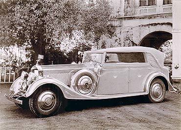 The Star of India at Ranjit Vilas Palace, Rajkot, in the 1940s