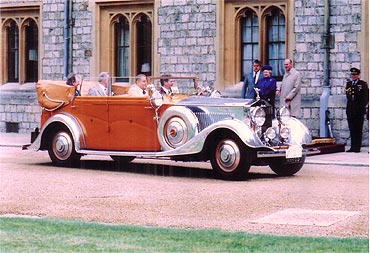 German collector Zach attended Queen Elizabeth's golden jubilee in the car in 2002