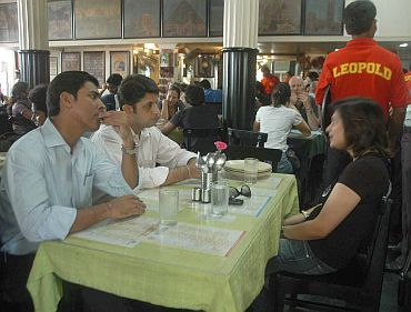 It's business as usual at Leopold Cafe in South Mumbai, which was one of the targets on 26/11