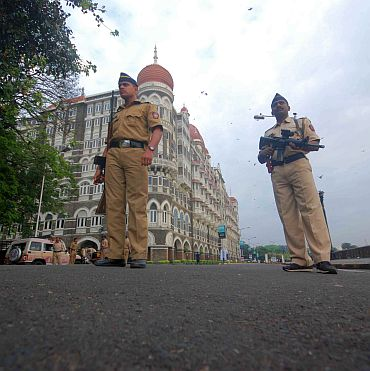 Tight vigil outside the Taj hotel