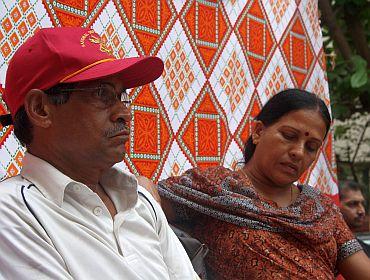 K Unnikrishnan, father of Major Sandeep Unnikrishnan who was slain in the 26/11 terror attacks with his wife Dhanalakshmi in Mumbai