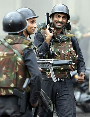 File photo shows NSG commados at the end of the Taj siege