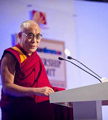 The Dalai Lama speaks at the HT Leadership Summit in New Delhi last month