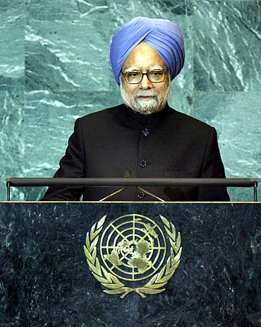 Manmohan Singh at the UN headquarters