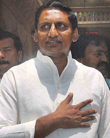 Newly appointed AP CM Kiran Kumar Reddy