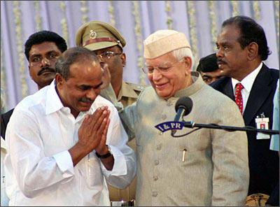 YSR Reddy at his swearing in ceremony