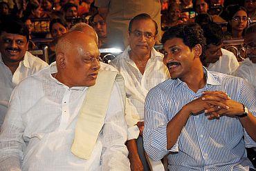 Jagan with former Andhra CM K Rosaiah
