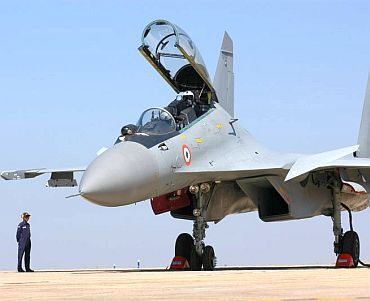 File photo of a Sukhoi fighter jet