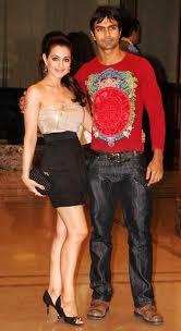 Ashmit Patel with Amisha Patel