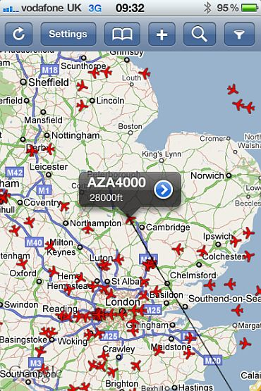 They even tracked the Pope's plane over UK
