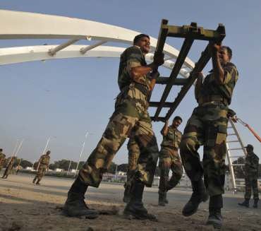Army rebuilds the collapsed overbridge
