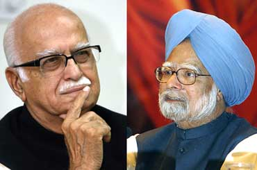 L K Advani and Manmohan Singh