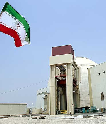A general view of the Bushehr main nuclear reactor in Iran