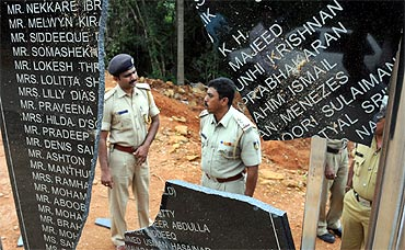 Mangalore air crash memorial was found desecrated on Tuesday
