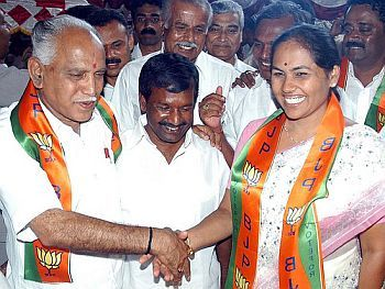 Yeddyurappa with Shobha