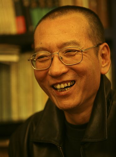 Chinese dissident Liu Xiaobo is seen in this undated photo released by his family on October 3