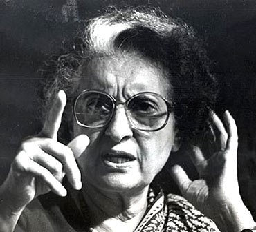 Former prime minister Indira Gandhi. According to the Ram Bahadur Rai, the Meenakshipuram conversions and her defeat by the Abdullahs in JK made her take a pro-Hindu line