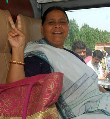 File photo of Rabri at a campaign rally