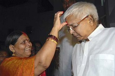 File photo of Lalu with Rabri