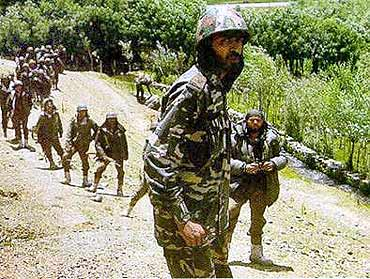 Major Padmapani Acharya during the Kargil war