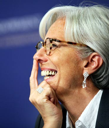 French Economy Minister Christine Lagarde