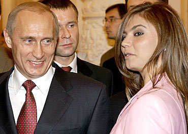 Russian Prime Minister Vladimir Putin allegedly had an affair with gymnast Alina Kabayeva