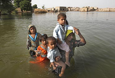 The recent floods in Pakistan affected a large geographical area
