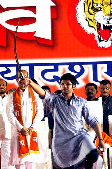 Aditya Thackeray in Sena's Dusshera rally in Mumbai
