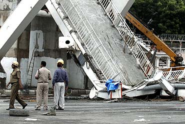 A pedestrian bridge collapsed outside the Jawaharlal Nehru Stadium on September 21, less than 10 days before the inauguration of the Games