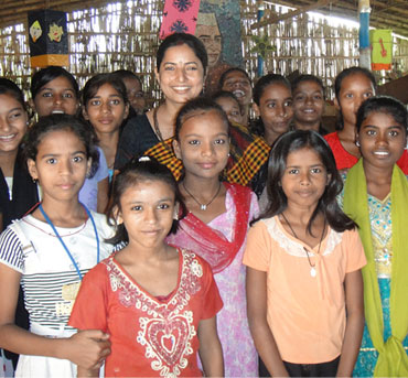 Children at a government-run activity centre in Patna
