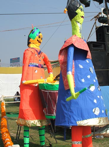 A festival for girl children in Patna