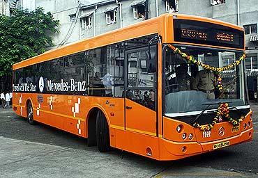 BEST plies Mercedes buses in Mumbai