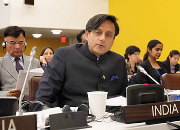 Shashi Tharoor at the UN Assembly in New York