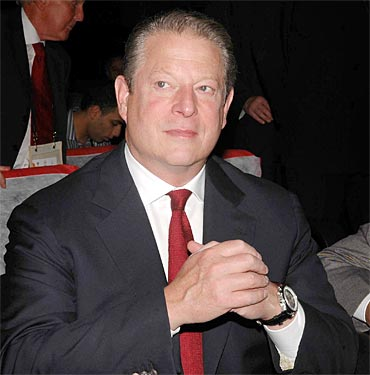 Former US vice president and Nobel Peace Prize winner Al Gore