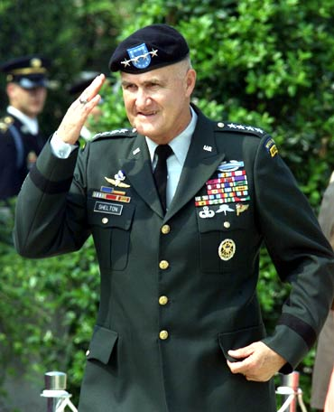 General Shilton retired in September 2001 as the top US military officer